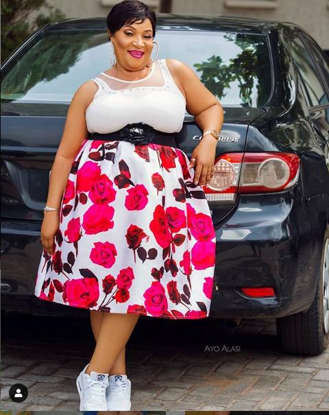 Veteran actress, Ngozi Nwosu stuns in stylish new photos