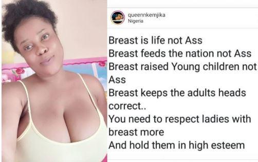 Busty Nigerian lady lists 5 reasons why