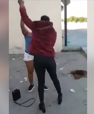 Blood flows as two Nigerian women fight in Italy (video)