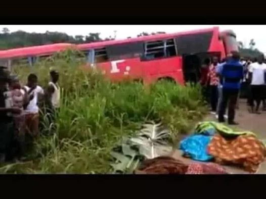 Photos: Over 70 people killed in horrific bus crash in Ghana