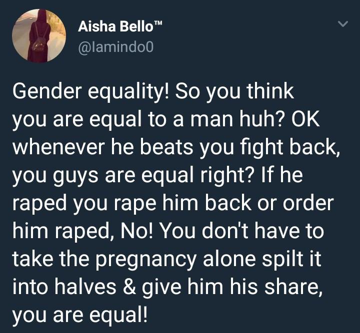 Lady says feminist is female stupidity as she goes on anti-feminism rant