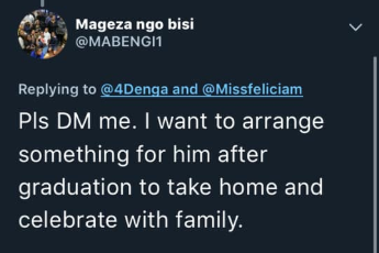 Lady asks her followers on twitter to help her friend graduating this week with a suit, the replies she got will make you smile