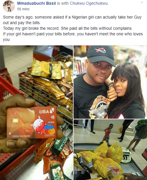 Man spoilt by his girlfriend shows off all she bought for him as he advises other men