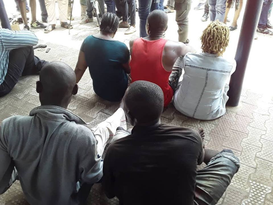 Photo: Anambra state police command parades three over viral nude video