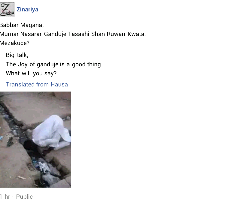 Photo: Man attempts to drink gutter water in celebration of Governor Ganduje