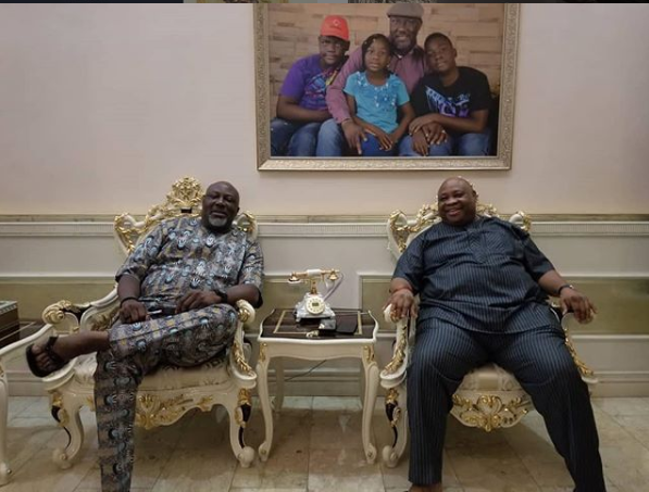 Senator Dino Meleye and Incoming Governor of?Osun State, Ademola Adeleke pictured together (Photos)