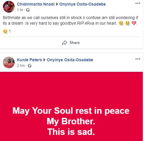 Social media users mourn Osadebe