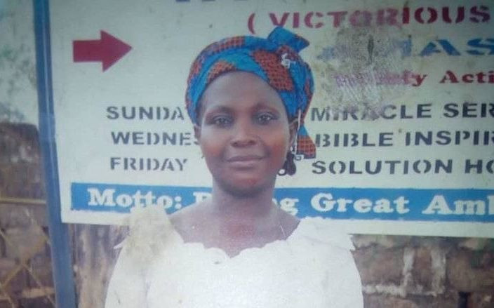 Photo: Mother of seven shot dead by a disgruntled man in front of church in Ebonyi