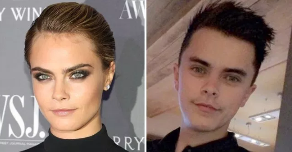 Man becomes viral sensation because of his striking resemblance to Cara Delevingne