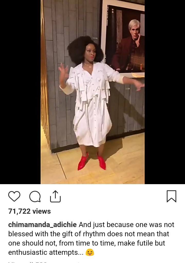 Watch Chimamanda Adichie dance in new video