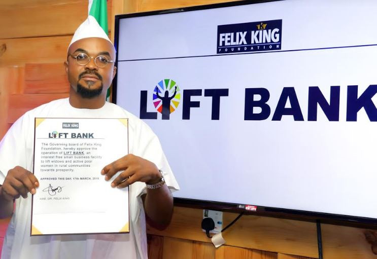 Felix King Inaugurates Lift Bank for The Forgotten Women, Kicks off in 3 States (Photos)