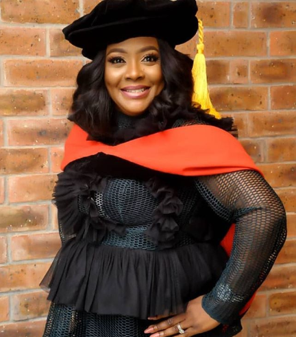 "Helen Paul celebrates as she becomes the ""first Nigerian stand-up comedian to have a Ph.D"""