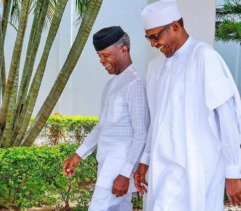 PepperDemGang: Caption this new photo of President Buhari and Yemi Osinbajo