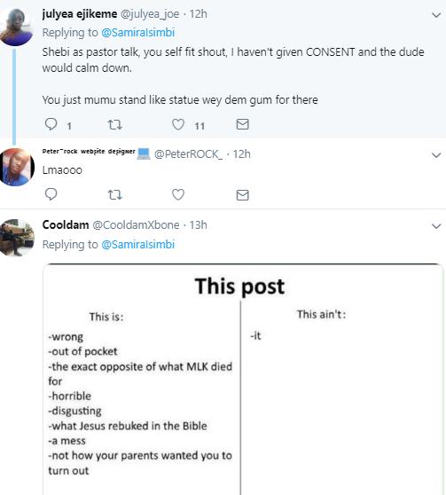 Woman starts debate as she says it