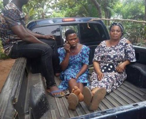 Woman and her accomplice arrested for selling?the 2-day-old baby of her 13-year-old sister for N300k in Enugu State