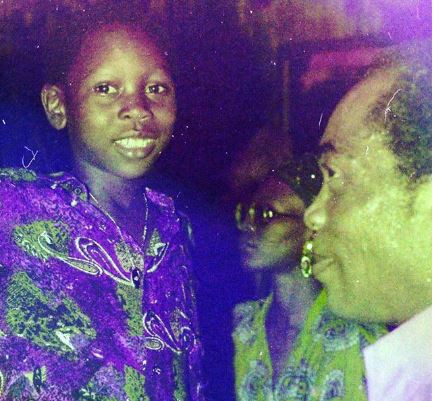 Epic throwback photo of Seun Kuti and his dad, Fela