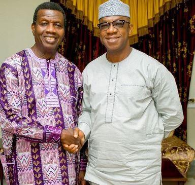 Ogun State Governor-elect, Dapo Abiodun pays courtesy visit to Pastor Adeboye (Photos)
