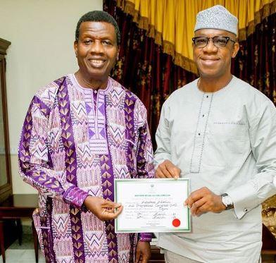 Ogun State Governor - Elect, Dapo Abiodun Pays A Courtesy Visit To Pastor Adeboye (Photos)