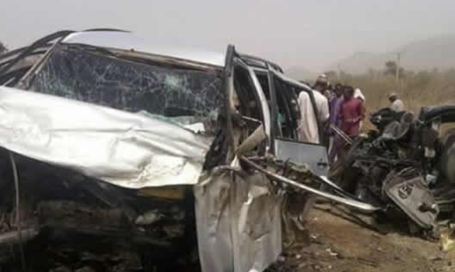 Photos: Man, wife and two children perish in Bauchi road accident