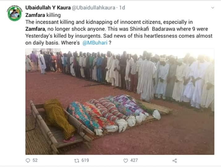 Photo: Gunmen kill 40 in Zamfara communities