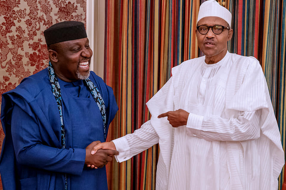 Photos from President Buhari's meeting with Governor Rochas Okorocha