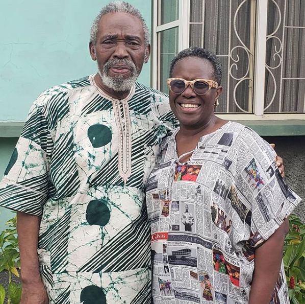 Joke Silva and Olu Jacobs look regal in new photo
