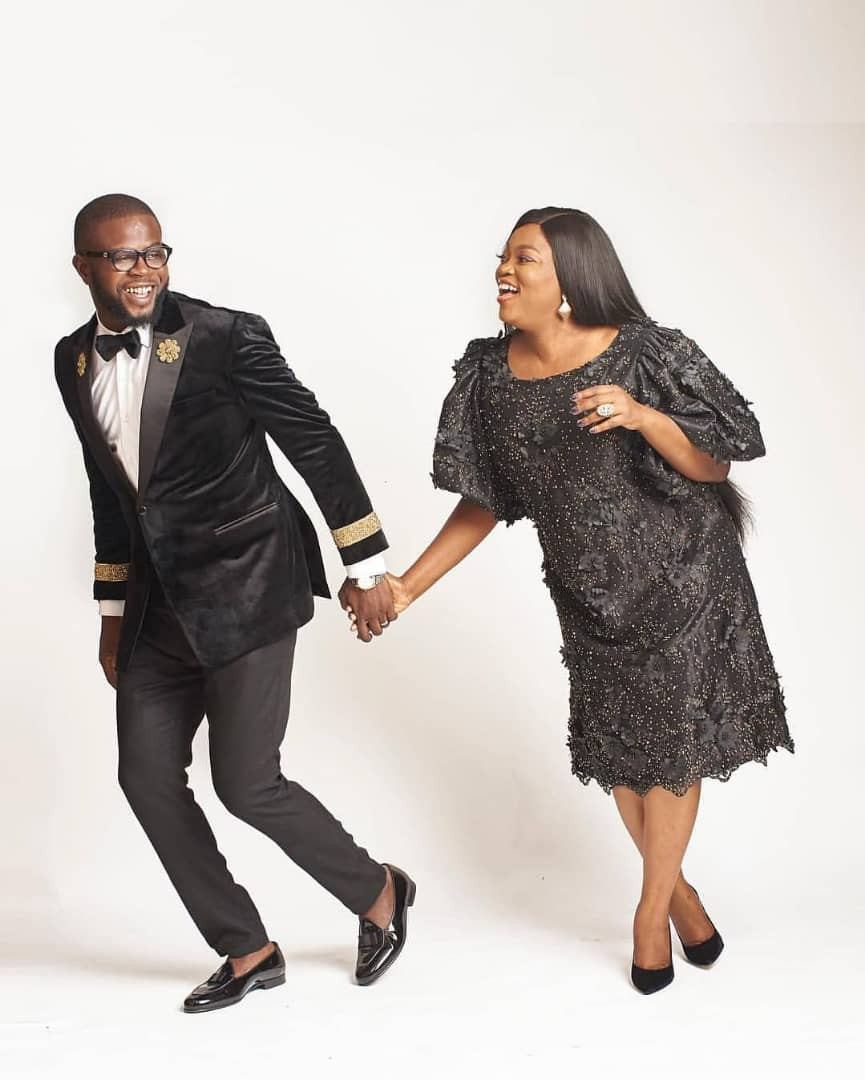 JJCSkillz shares lovely new photos with his wife, Funke Akindele Bello, as he turns a year older today