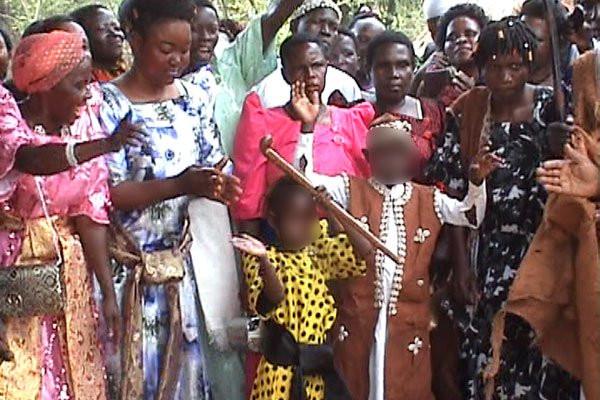 Photos: Boy,9 marries 6-year-old girl in Uganda