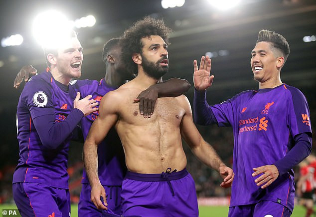 Egyptian Mohamed Salah becomes fastest player in Liverpool history to reach 50 Premier League goals.