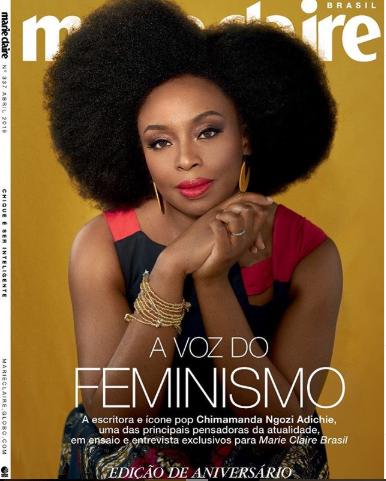 Chimamanda Ngozi Adichie covers Marie Claire Brazil