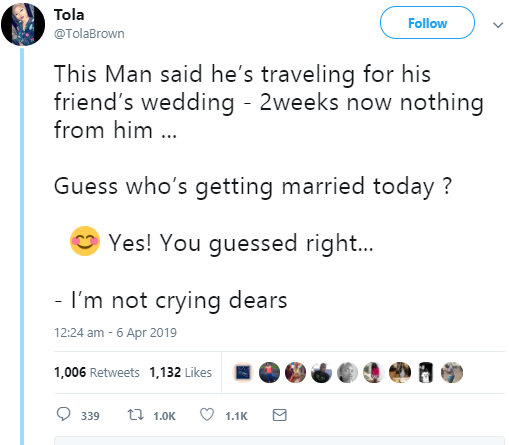 Nigerian lady hospitalized after she discovered her boyfriend just got married to someone else today