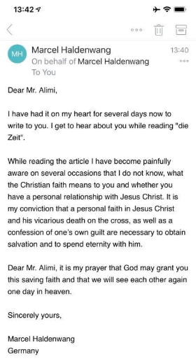 """The world will be a better place without these two blood thirsty religions"" - Bisi Alimi says after a Christian sent him a mail to preach to him"
