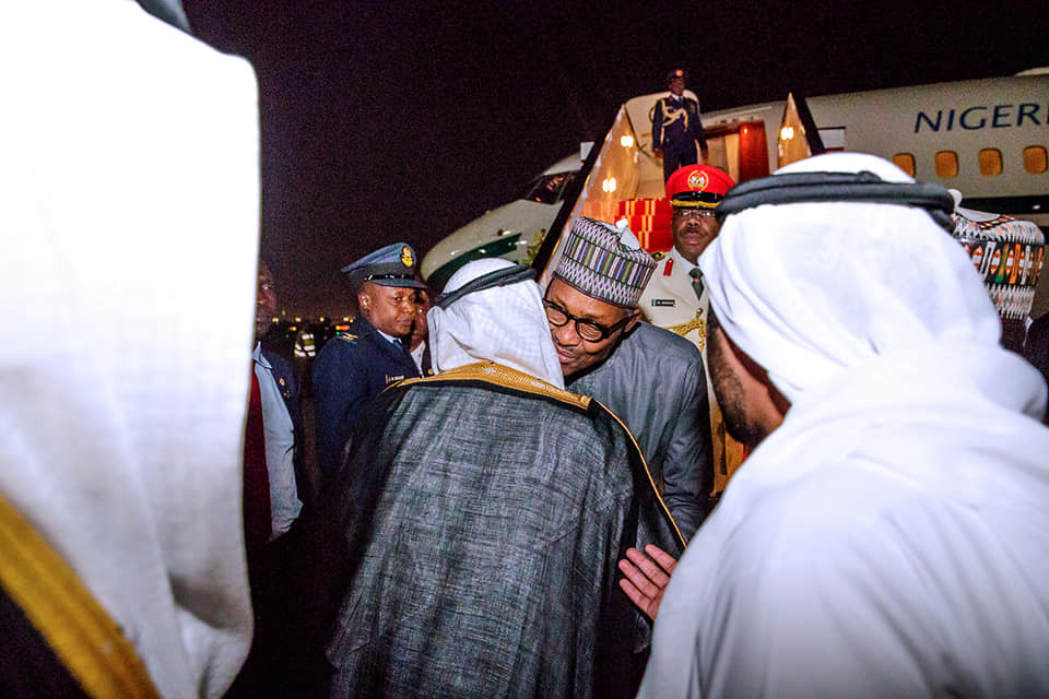 Photos: President Buhari arrives Dubai for 9th edition of the Annual Investment Meeting