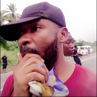 Photos: Nigerian man appreciates God after the bus he almost boarded got involved in an accident, killing everyone onboard