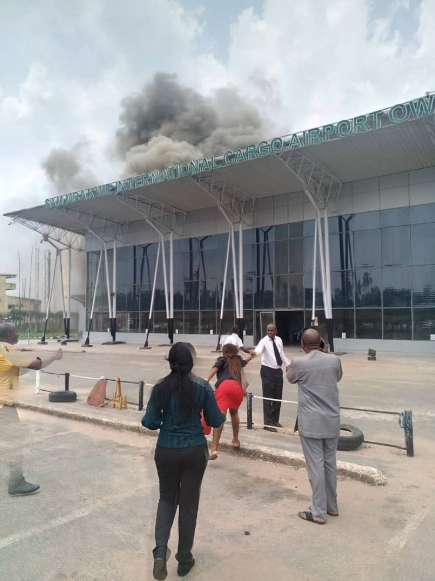 Breaking: Sam Mbakwe Airport is currently on fire