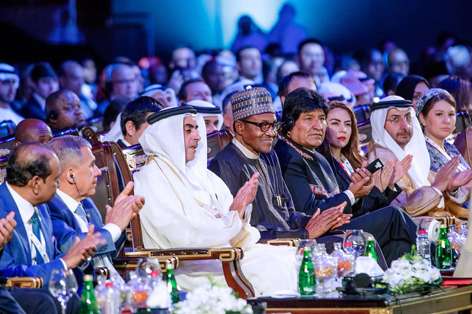 Photos: President Buhari delivers keynote address at the Annual Investment Meeting in Dubai