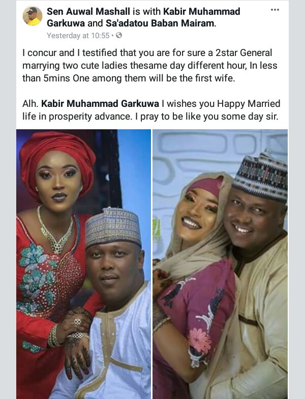 Photos: PDP chieftain marries two wives same day in Jos