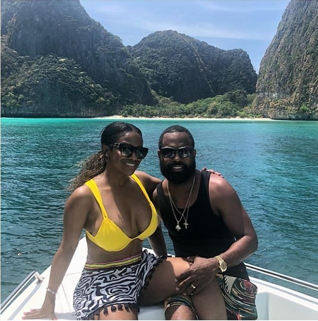 Reality star Kandi Burruss flaunts her hot bikini body during Thailand vacation with her husband ?Todd Tucker (Photos)
