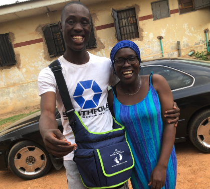 Photos: 21-year-old Nigerian man warms the heart of many after he surprised his mum with a car on her birthday