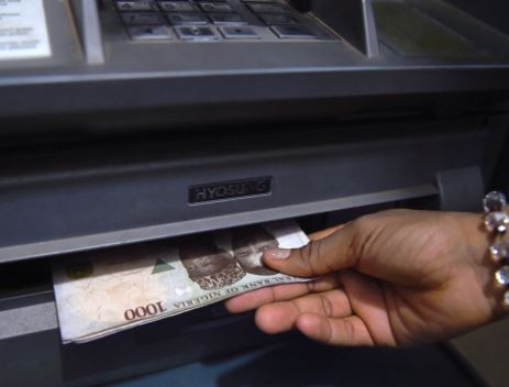 Man who withdrew cash from an ATM using