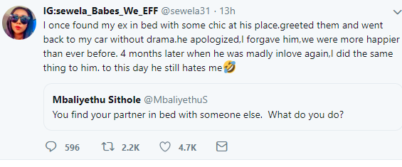 Twitter user reveals how she took revenge on her cheating boyfriend