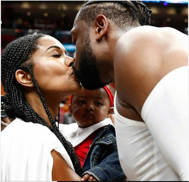 Beautiful photo of Dwyane Wade, Gabrielle Union and their daughter Kaavia