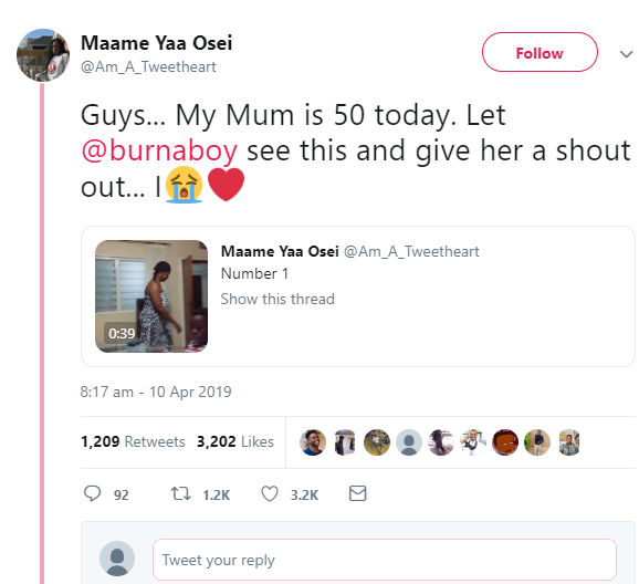 Woman, 50, who danced to Burna Boy