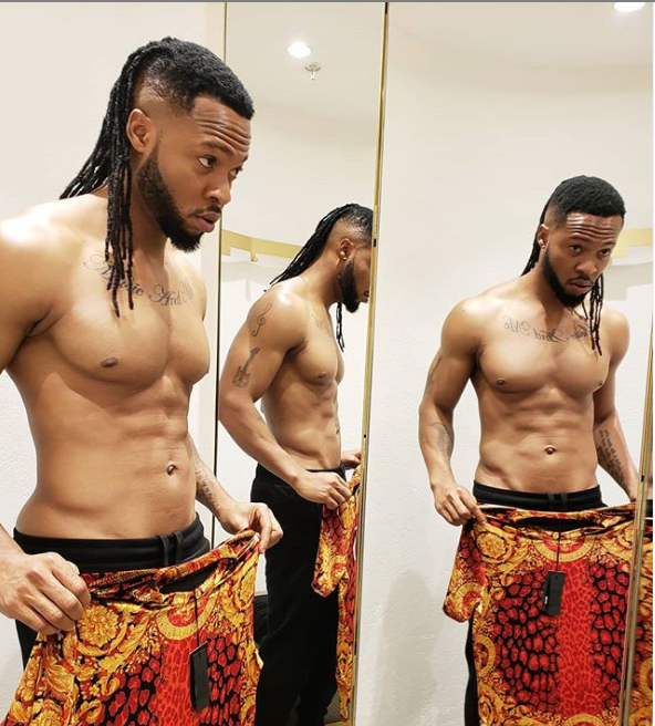 Singer, Flavour flaunts his ripped body in shirtless new photo