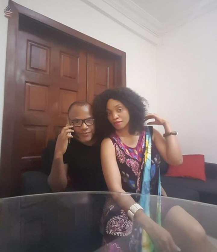 Nnamdi Kanu reacts to leaked intimate video of him and his wife