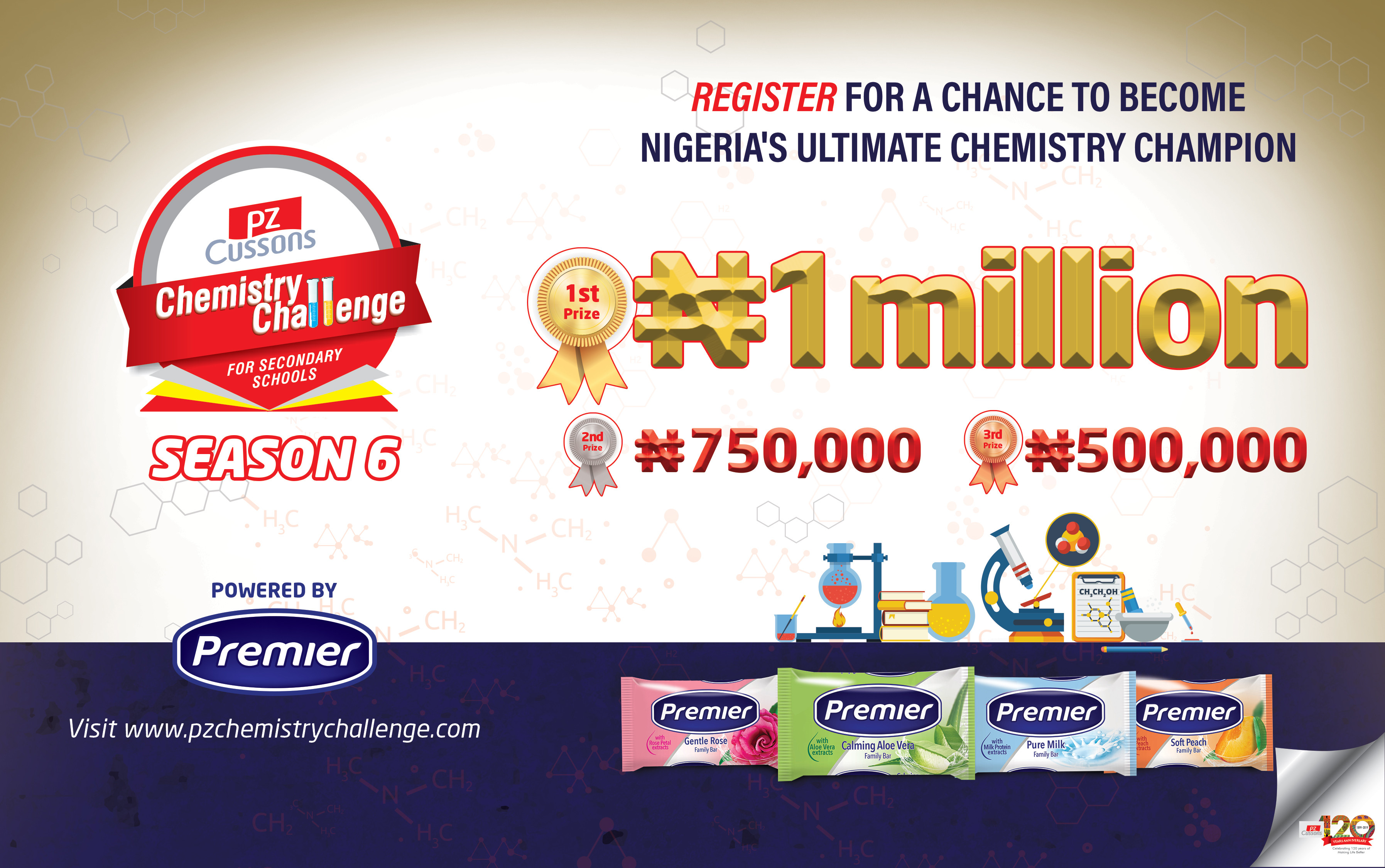 PZ Cussons Chemistry Challenge Will Be Giving Out Over 3 Million Naira In Cash And Gits To SS2 Student In Nigeria