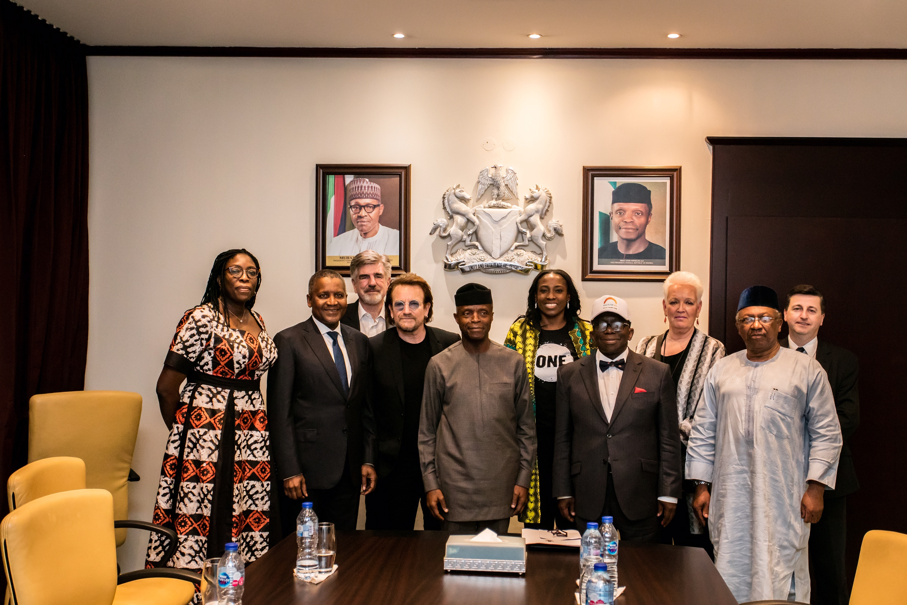 Photos: Senior Delegation From ONE Including Co-founder, Bono Meets With Vice President Osinbajo, Senate President Saraki