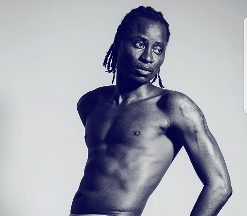 Bisi Alimi Shows Off His D**k Print As He Strips Down To His Underwear In New Shirtless Photo