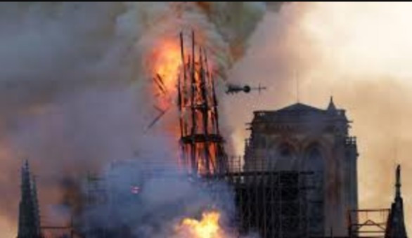 Fire breaks out at Notre-Dame Cathedral in Paris