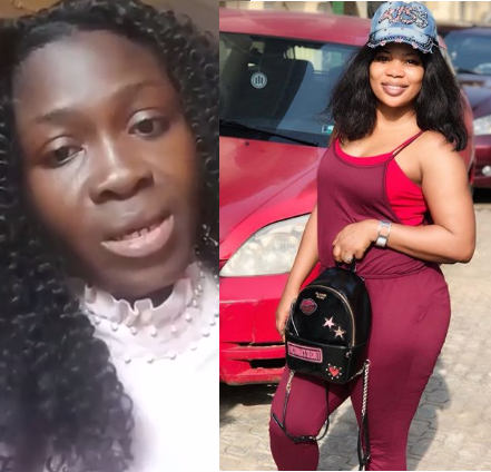 Upcoming actress seemingly forced to go on her knees to apologise to Seyi Edun for calling her out on Instagram (video)